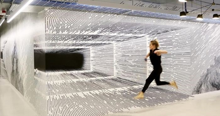 Artist Katy Ann Gilmore Creates 3D Optical Illusions That Look Like You Walk Into Them