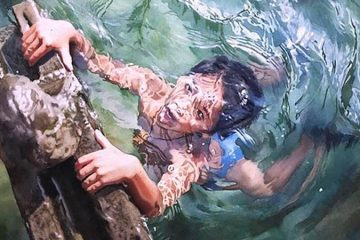 Watercolor paintings water