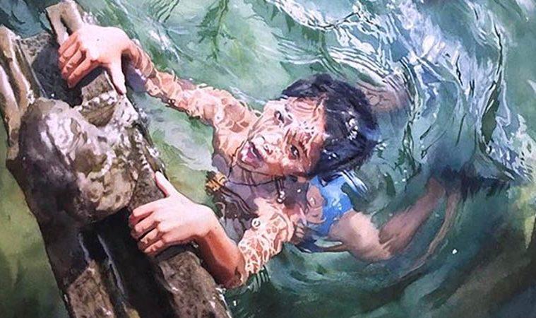 Watercolor paintings water