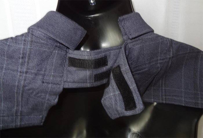 adult dignity bibs collared shirt velcro closures