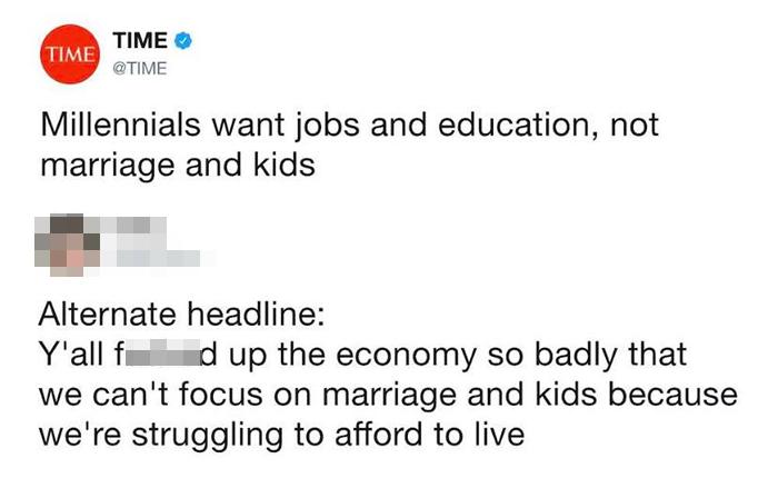 alternate headline millennials marriage