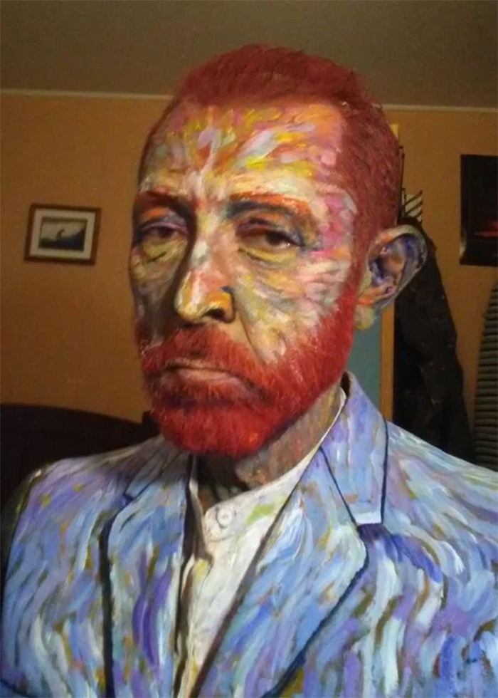 art teacher van gogh look