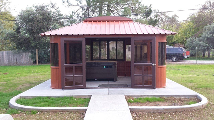 aspen outdoor spa full enclosure