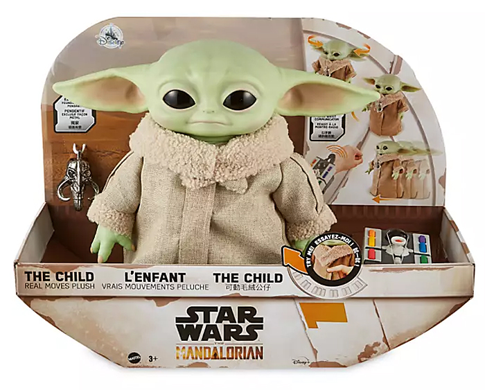baby yoda toy hover pram packaging