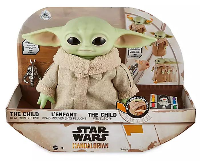 baby yoda toy hover pram packaging