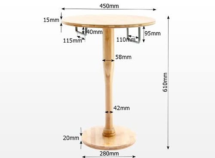 bat and shield nightstand dimensions