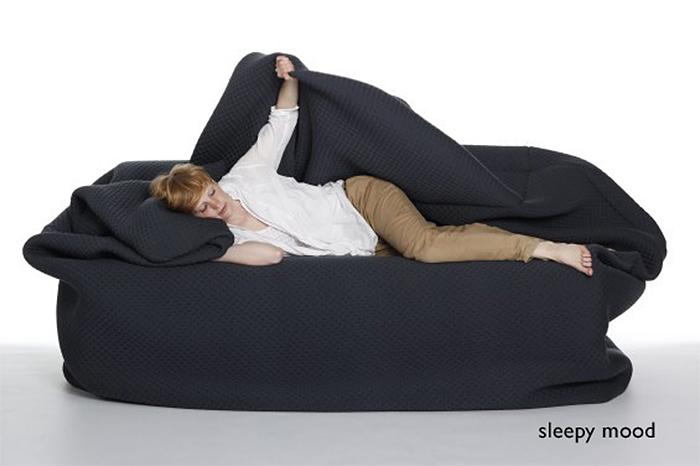 bean bag bed sleepy mood