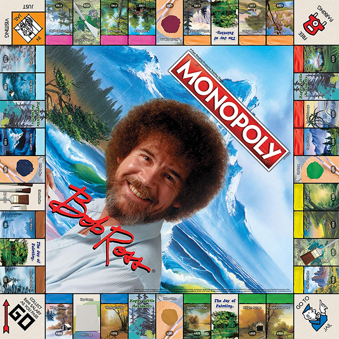 bob ross monopoly game board