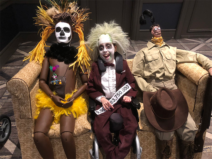 boy with cerebral palsy beetlejuice halloween costume ideas