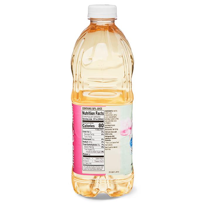 cotton candy grape juice bottle