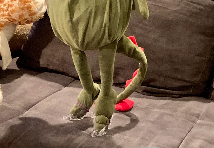 creative dads glass shoes for stuffed dragon