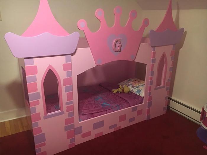 creative dads princess castle bed