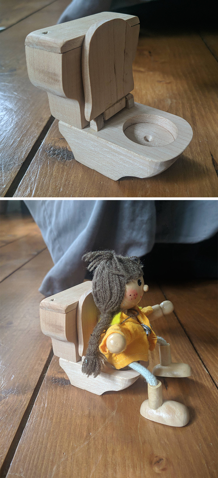 creative dads toilet for dolls