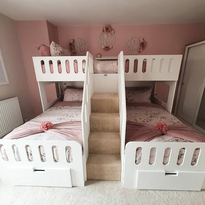diy three-person bed