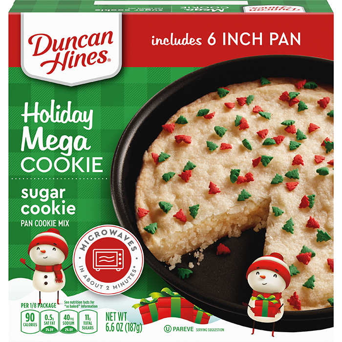 duncan hines holiday mega cookie