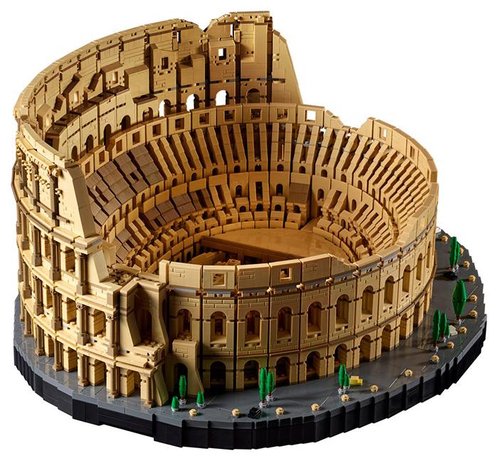 fully assembled lego roman colosseum