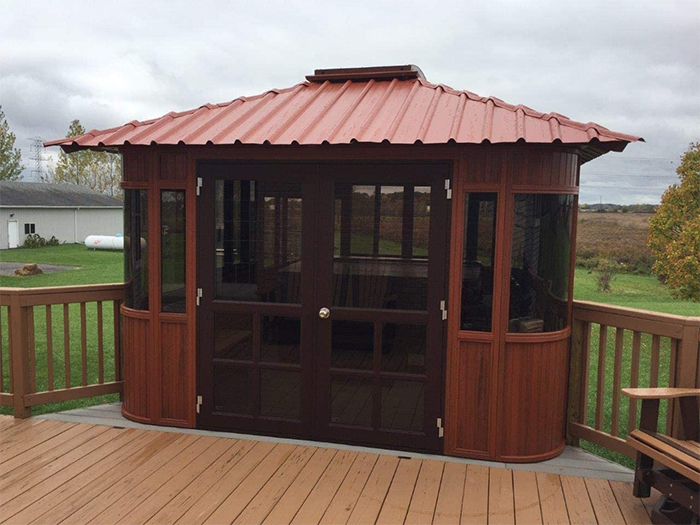fully enclosed hot tub gazebo