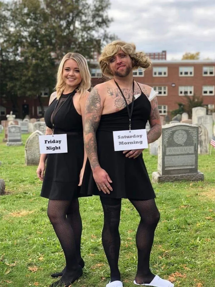 funny halloween costume ideas couple outfit