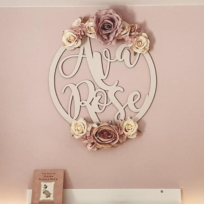 girls name die cut wall decor