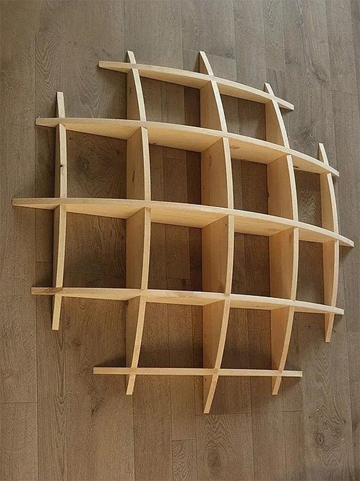 half-sphere decorative wall shelf