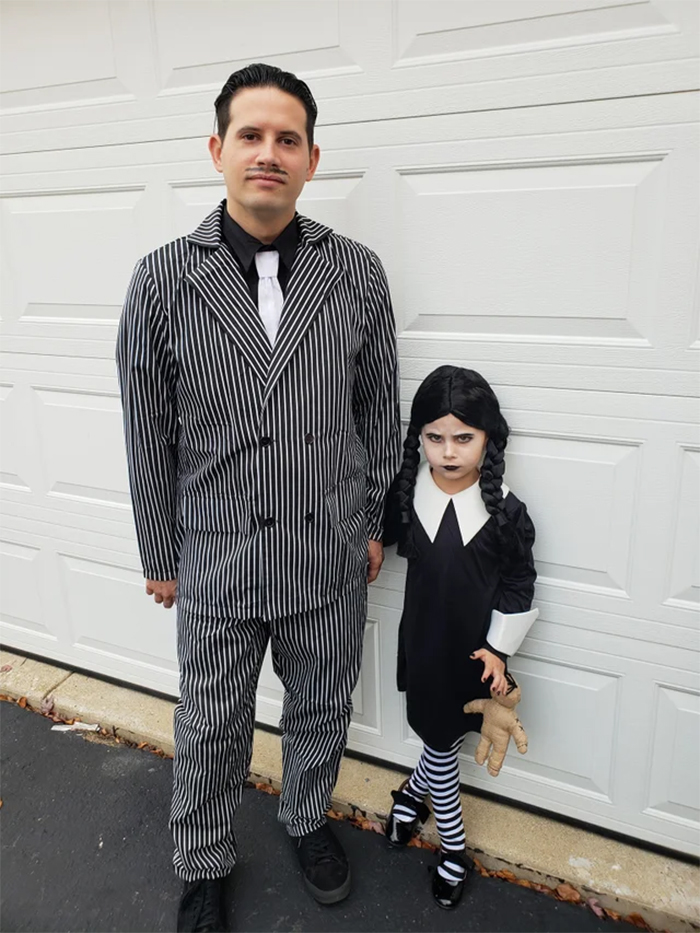 halloween costume ideas gomez and wednesday addams family