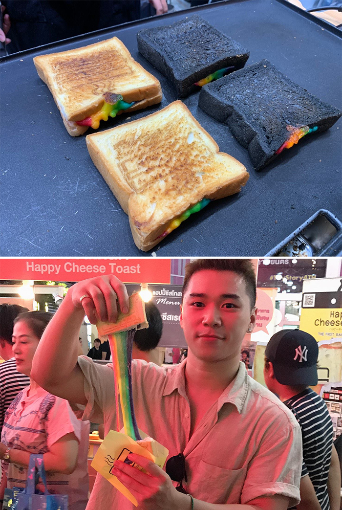 happy cheese toast thailand unexpected things