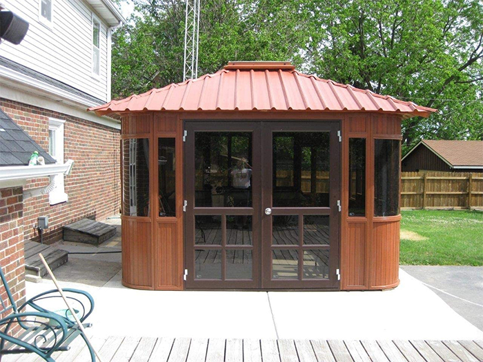 hot tub gazebo dual door entrance