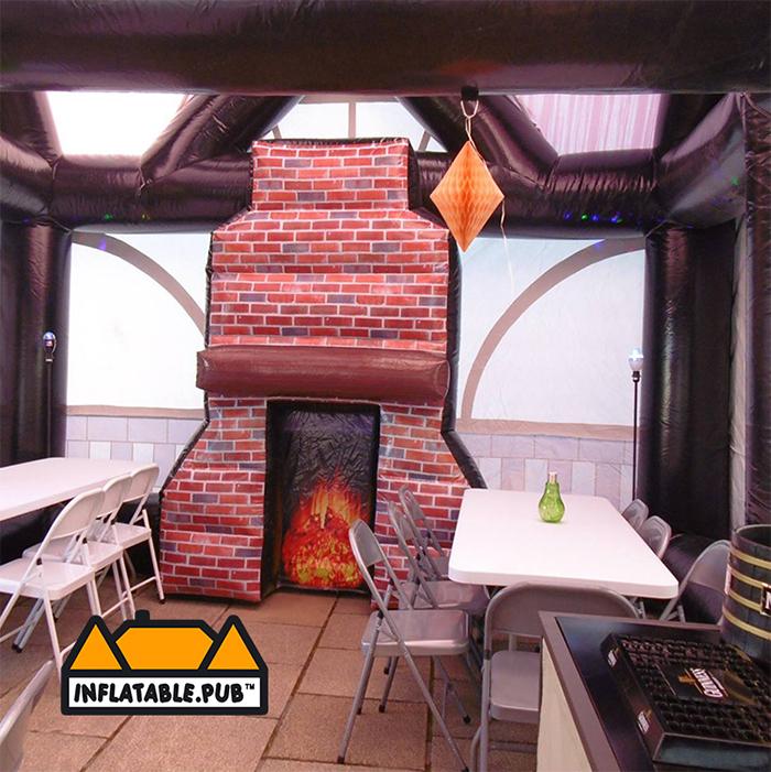 inflatable pubs das bierhaus bar interior