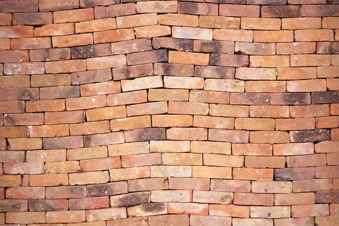 jorge mendez blake misaligned brick wall