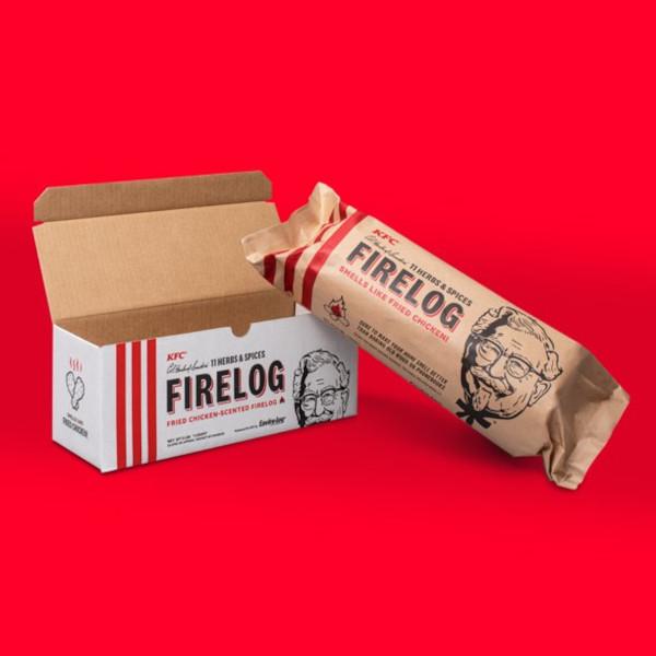 kfc fire log with box