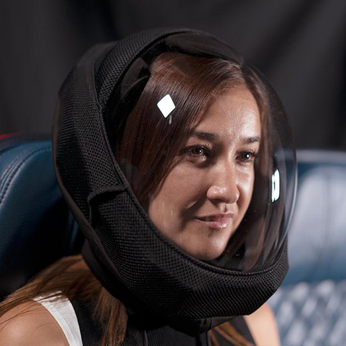 lady wearing microclimate air helmet
