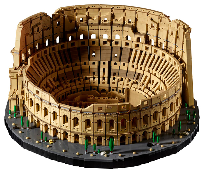 lego roman colosseum fully assembled
