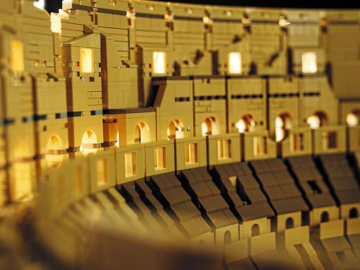 lego roman colosseum inner structure closeup