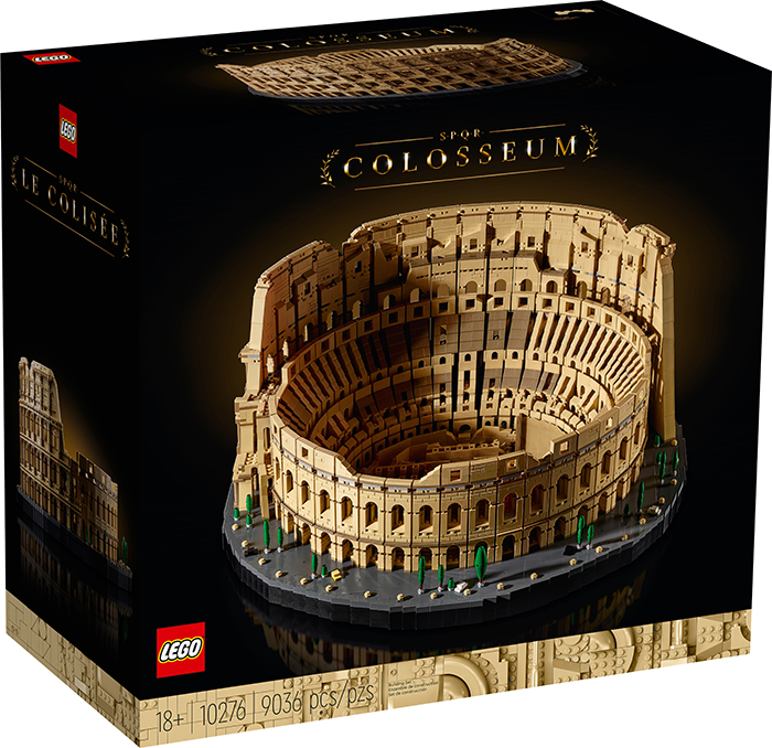 lego roman colosseum packaging front