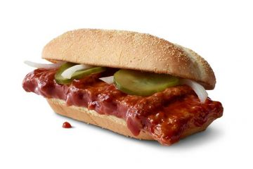mcdonald's mcrib sandwich