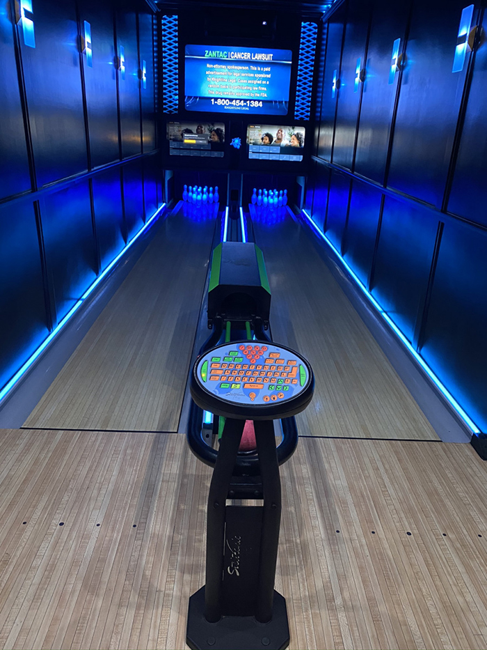 mobile bowling alley machine