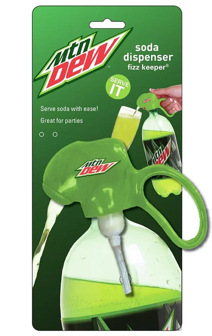 mountain dew dispenser for 2-liter bottle