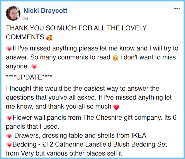 nicki draycott facebook post diy three-person bed for girls 1