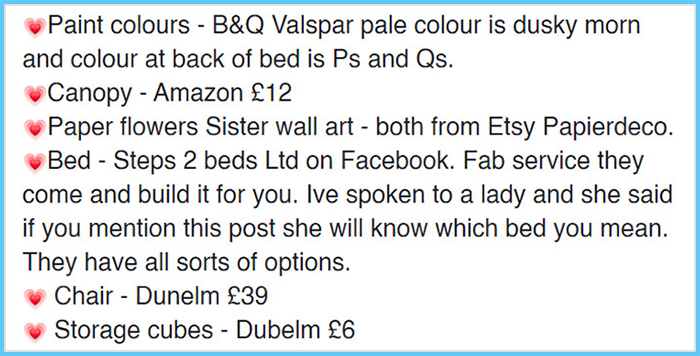 nicki draycott facebook post diy three-person bed for girls 3