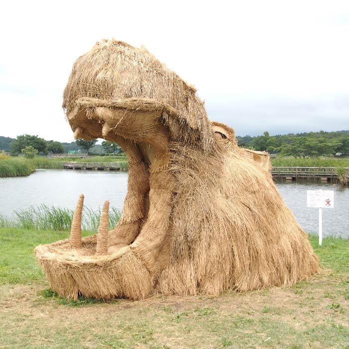 niigata japan wara art hippo