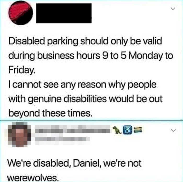 notorious comebacks disabled parking