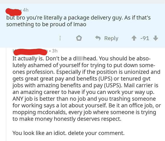 notorious comebacks package delivery guy