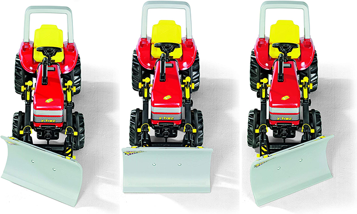 pedal powered snow plow angle positions