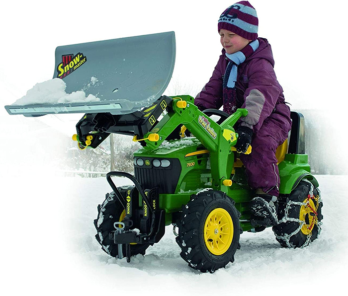 pedal powered snow plow rolly trac lader