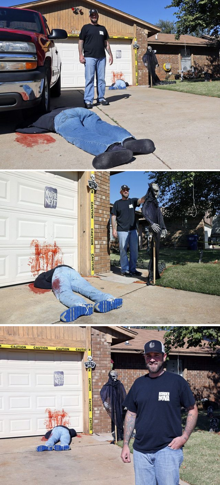 realistic gory halloween decorations
