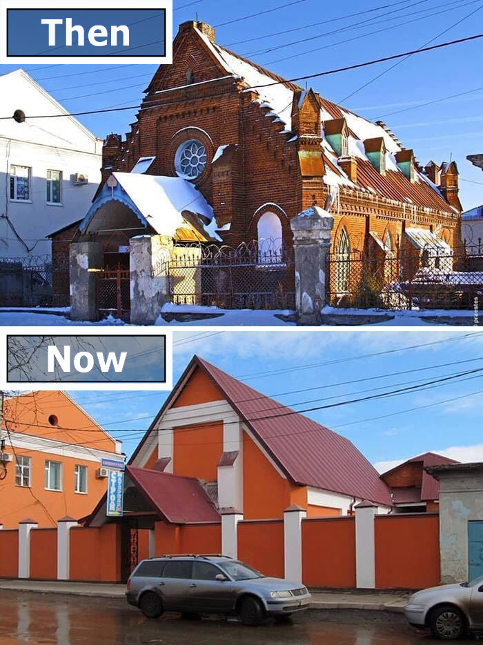 renovated buildings fail russian church
