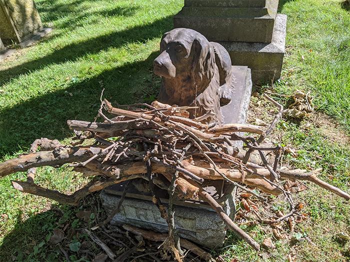 rex gravestone green-wood cemetery