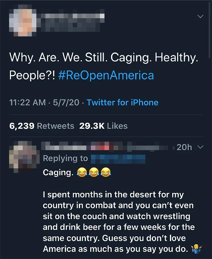 savage putdowns caging healthy people