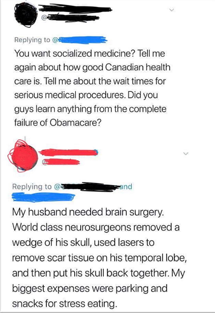 savage putdowns canadian health care