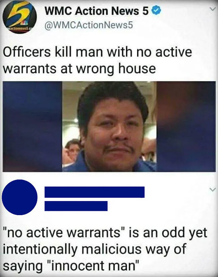savage putdowns innocent man killed by police